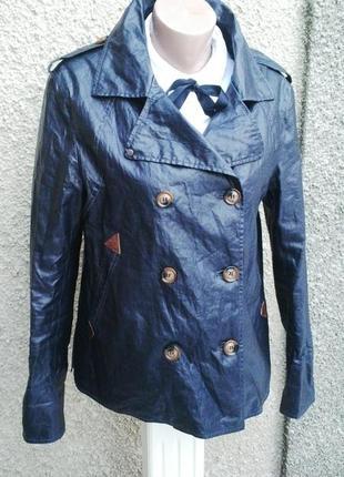 Стильная ,льняная куртка с пропиткой по типу плащевки,жакет(пи...