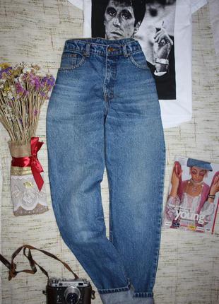 Джинсы бананы. винтажные джинсы с высокой посадкой. момы