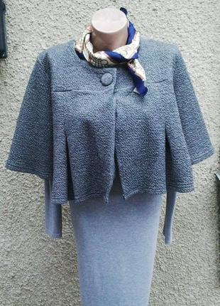Укороченный жакет,пиджак свободного кроя с люриксом.   h&m
