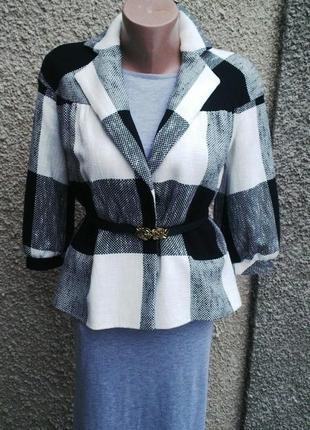 Красивый,стильный жакет(пиджак)в большую клетку от zara,хлопок...