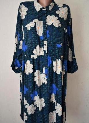 Красивое платье-рубашка с принтом большого размера tu