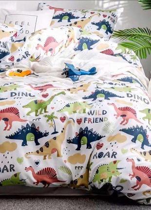 Комплект  постельного  белья «Динозавры  друзья»