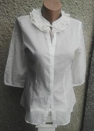 Легкая,воздушная,немного прозрачная блузка в горошек,рубаха с ...