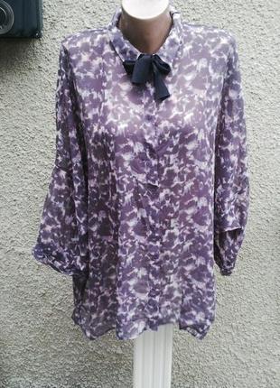 Легкая,немного прозрачная блузка(рубашка) по типу летучая мышь...
