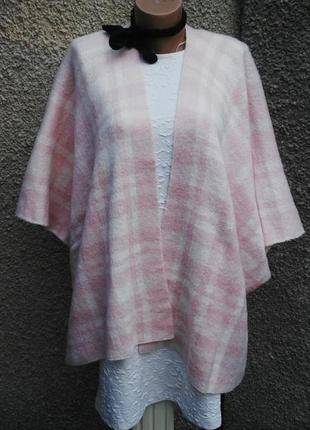 Розовый в клетку  кардиган-пончо,накидка(кофта,жилет), george