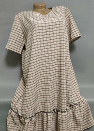 Женское платье летнее с оборкой, большие размеры