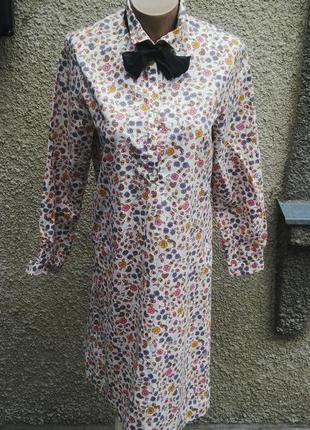 Платье-рубашка с застежкой до пояса(без подкладки) из плотного...