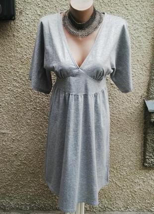 Новое платье люрексовое,серебристое (серый металлик)&m