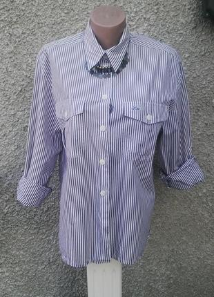 Рубашка с подплечниками,блуза в полоску,хлопок,большой размер,...
