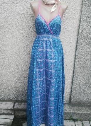 Сарафан(платье пляжное) в пол с открытой спиной,хлопок, cherok...