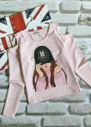 Модные розовые кофточки для девочек 146-158 рост
