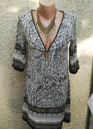 Платье,туника,рубаха с крупным замочком на груди ,в восточный(...