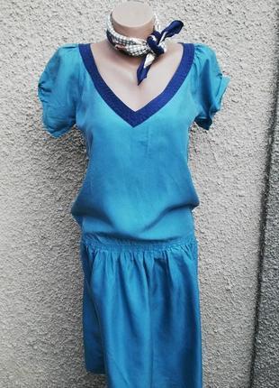 Шелковое,легкое платье(без подкладки) ретро стиль, с застежкой...