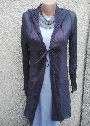 Легкий кардиган,блуза с капюшоном,удлиненная по спинке,пляжная...