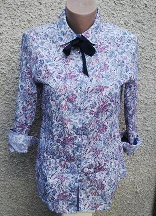 Блузка,рубашка в цветочный принт,хлопок