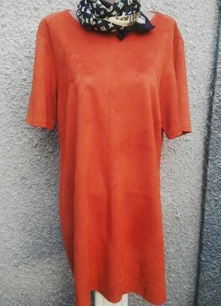 Платье,туника под замшу,большой размер f&f