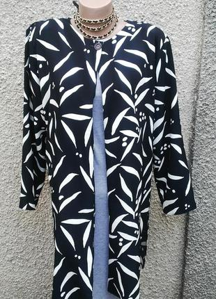 Жакет(пиджак)удлиненный,легкий кардиган на подплечниках, больш...