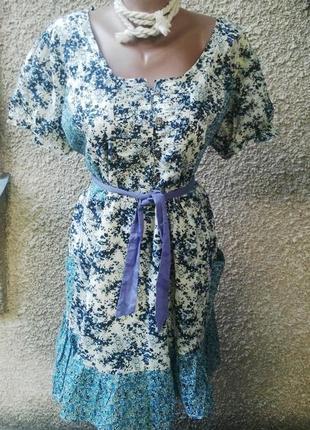 Новая блузка,платье,туника (халат)на подкладке,под пояс,хлопок...