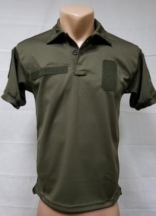 футболки поло военные Олива  для ВСУ, ( ЗСУ), НГУ. кулмакс