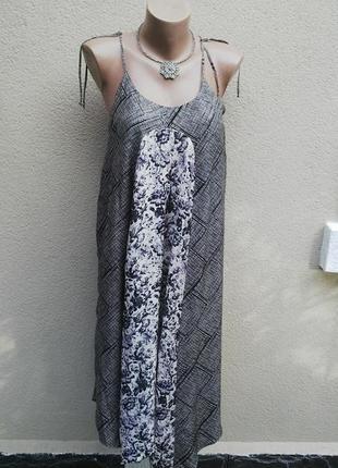 Шелковое платье,сарафан на брителях,с открытой спиной(ассиметр...