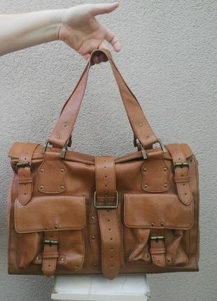 Большая,крутая сумка с накладными карманами(дорожная),кож.зам