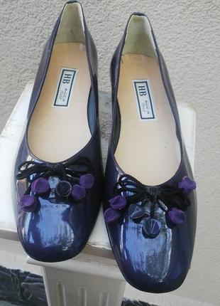 Очень красивые кожаные(лаковые) туфли,лодочки,балетки италия,л...