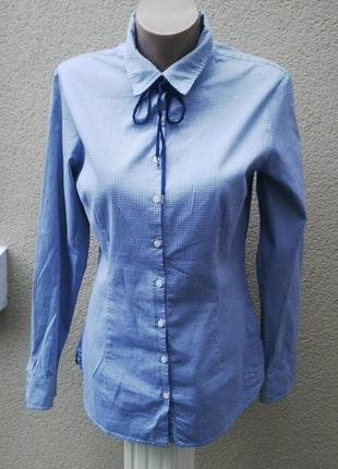 Красивая рубашка(блуза)в сине-белую клетку,хлопок, tommy hilfi...