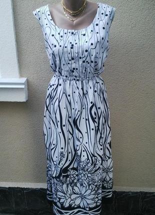 Красивое,длинное платье,сарафан под пояс,на подкладке,хлопок 1...