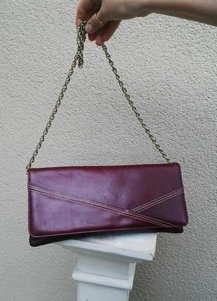 Винтажная,вечерняя сумочка на цепи,кожа 100% bally оригинал,лю...