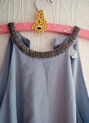 Голубое платье  h&m