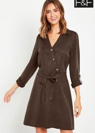 Платье с пуговицами f&f denim размер 14