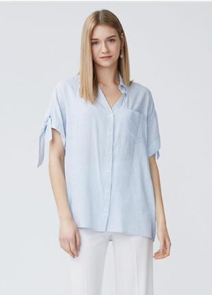 Белая рубашка в полоску dilvin