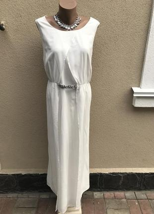 Красивое,белое,нарядное,вечернее,длинное платье,сарафан в пол,...