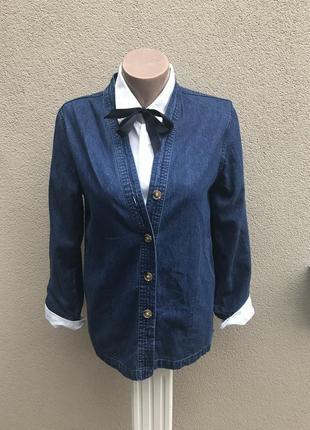 Джинсовый жакет,пиджак,куртка без подкладки(кардиган)хлопок 100%.