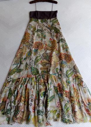 Zara, шёлковое длинное платье. 🧡