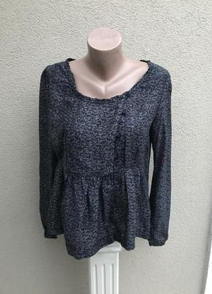 Красивая блуза,кофта вискоза 100%,рубаха с баской, деревенский...
