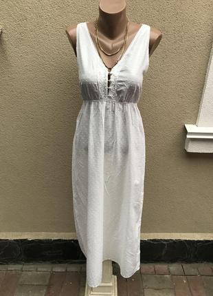 Длинное платье,сарафан кружево по груди,ночное,домашнее,пляжно...