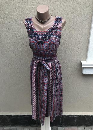 Красивое платье,сарафан,вышивка по груди,этно,бохо принт,больш...