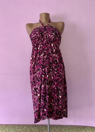 Платье сарафан леопардовый принт розовый 🦩
