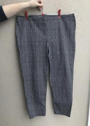 Брюки ,штаны,капри черно-белые,большой размер,george
