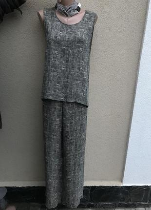 Костюм,брюки(штаны-кюлоты)майка(блуза-топ)вискоза,sonia rykiel...