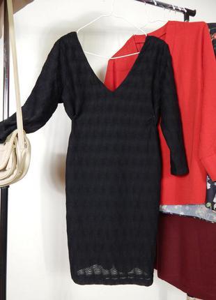 Шикарное платье по фигуре футляр из красивой фактурной ткани и...