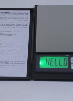 Весы ювелирные Notebook до 2кг с шагом 0.1 грамма