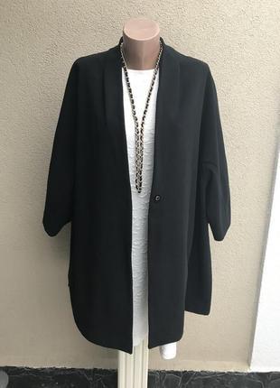 Красивый,черный кардиган,пальто,тренч,жакет,пиджак свободный к...