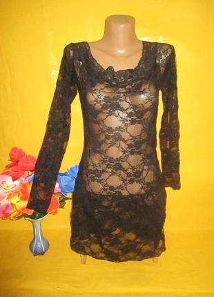Ажурное женское платье-туника грудь 43-51 см !!!!!!