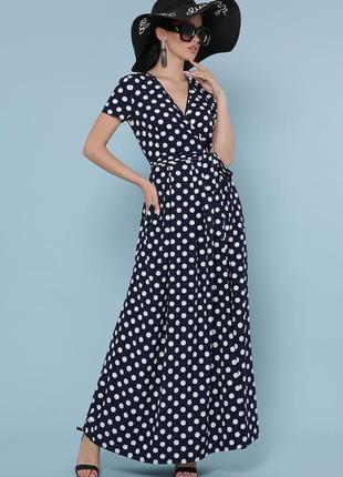 """Платье """"шайни"""" синий-белый (разные цвета)"""