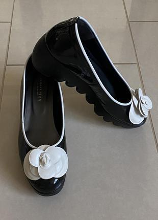 Изумительная японская обувь , туфли кожаные эксклюзив размер 37