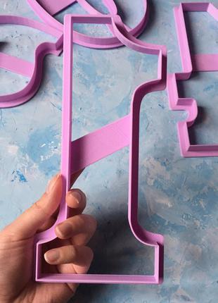 Вирубка ТОРТ-ЦИФРА 20см. #1/ Вырубка - формочка для торта - цифры