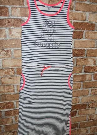 Хлопковое макси платье 13-14 лет шикарное