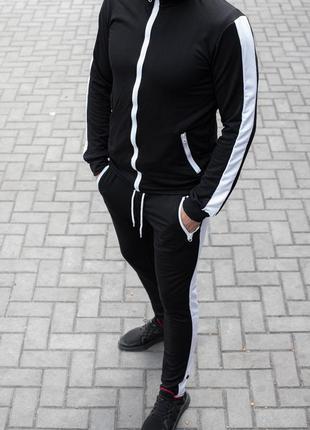 👕 мужской спортивный костюм черный (артикул: 1799) 👕